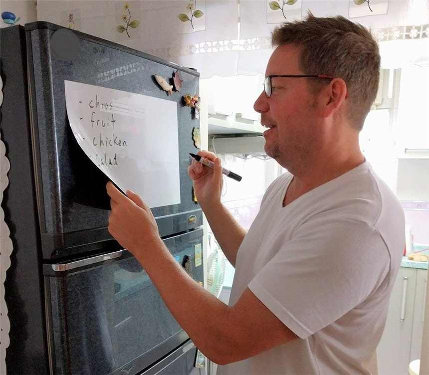 A4 Size Magnetische Whiteboard Magneten Droog Veeg Marker Gum Schrijven Record Bericht White Board Herinneren Memo Pad Plan Vel