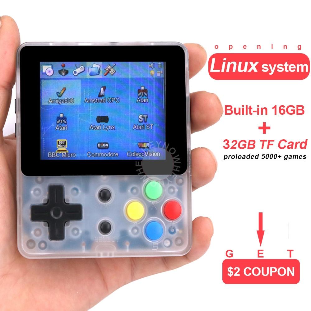 Opening Linux Retro Game Console 2 6 inch LDK Nostalgic Children Retro game Mini Family TV