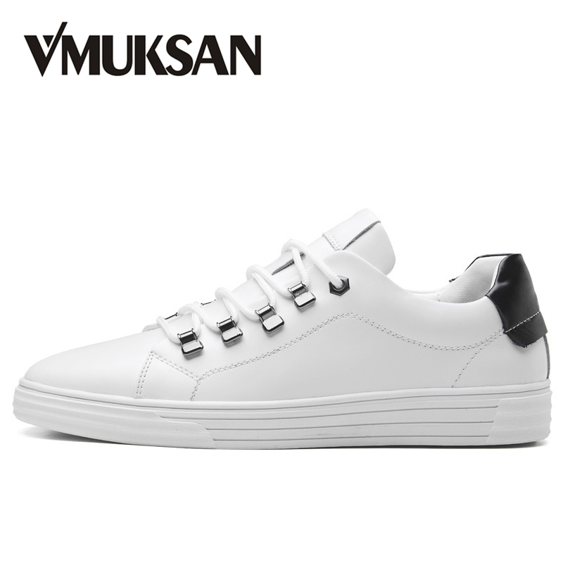 VMUKSAN Brand New Men Casual Shoes Fashion Comfortable Boys White Shoes Lace-Up Spring Sneakers Man glowing sneakers usb charging shoes lights up colorful led kids luminous sneakers glowing sneakers black led shoes for boys