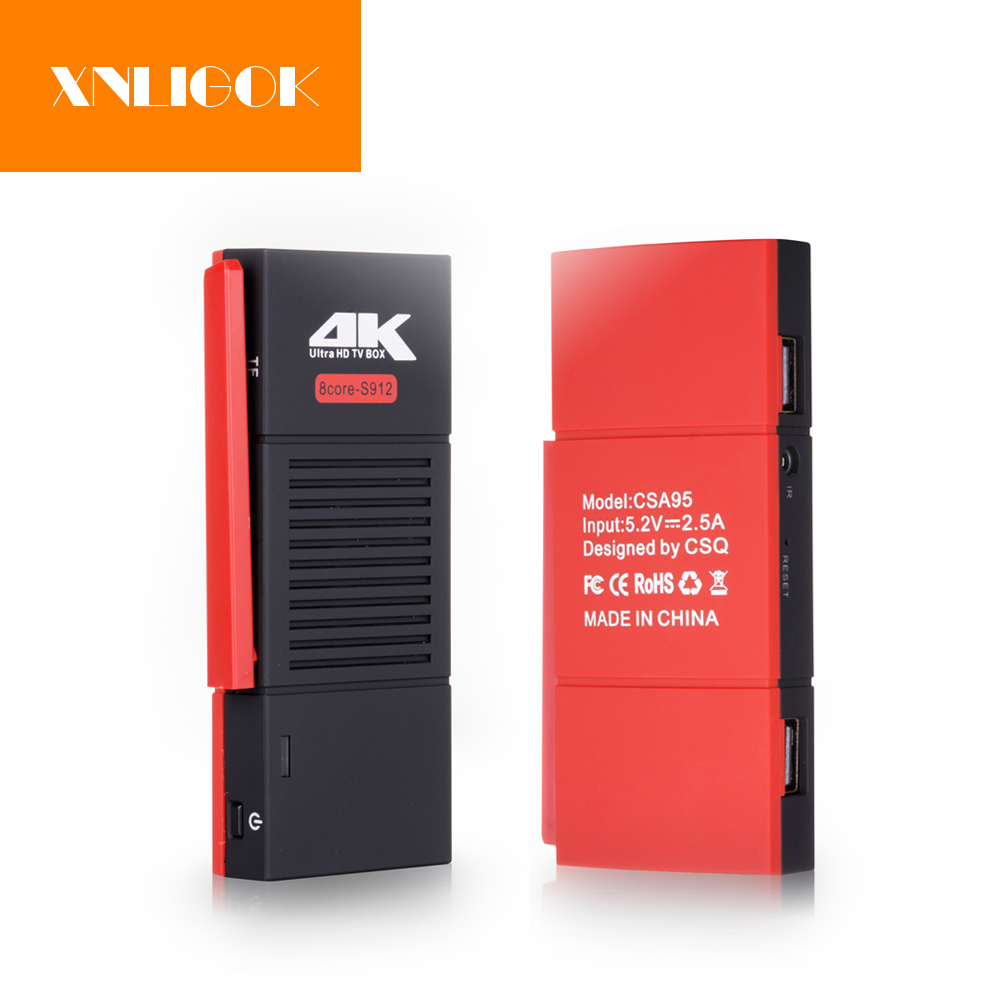 NEW CSA95 Amlogic S912 Mini PC Android 7.1 TV Box 2GB 16GB/32GB Octa Core Wifi 1000M Dongle TV Stick 4K in stock w5 tv dongle quad core intel z3735f windows10 android 4 4 dual os mini pc tv box 2gb 32gb bluetooth hdmi tv stick