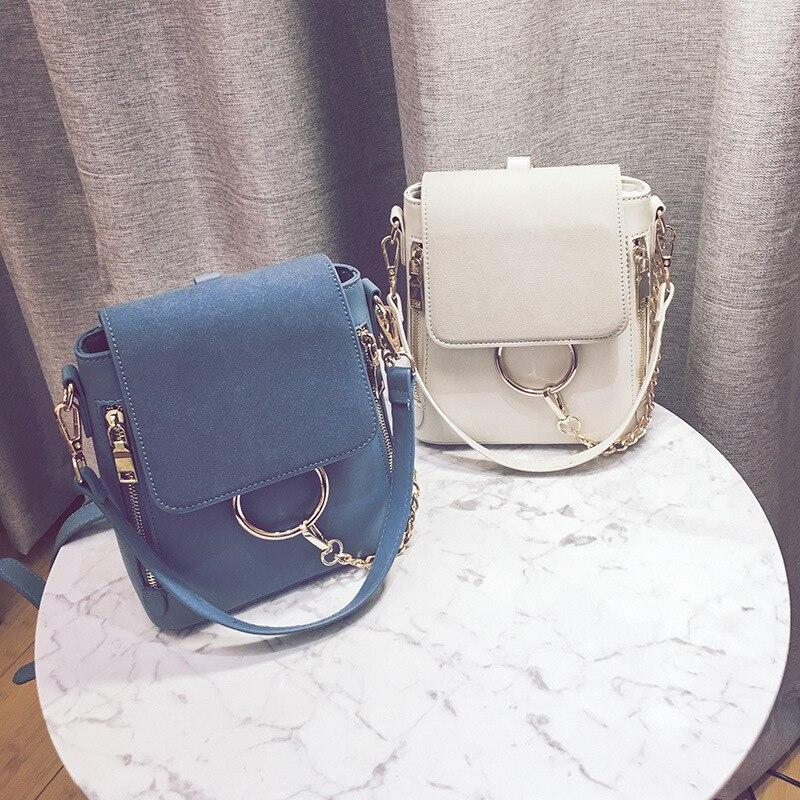 Leather Packsack Donna blu Nero Borsa il cachi Shoulder Doppia Nubuck Donne Borse Pu Cerniera Beige Tracolla Retrò Bag Casuale A Crossbody Nuove p6qXC
