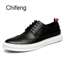 Mans casual shoe Genuine leather breathable 2017 spring autumn new fashion patchwork Round head bullock board men mens shoes