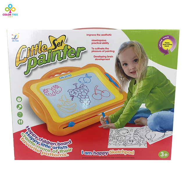 kids writing board toy plastic magnetic drawing board sketch writing painting sketcher preschool educational game - Preschool Painting Games