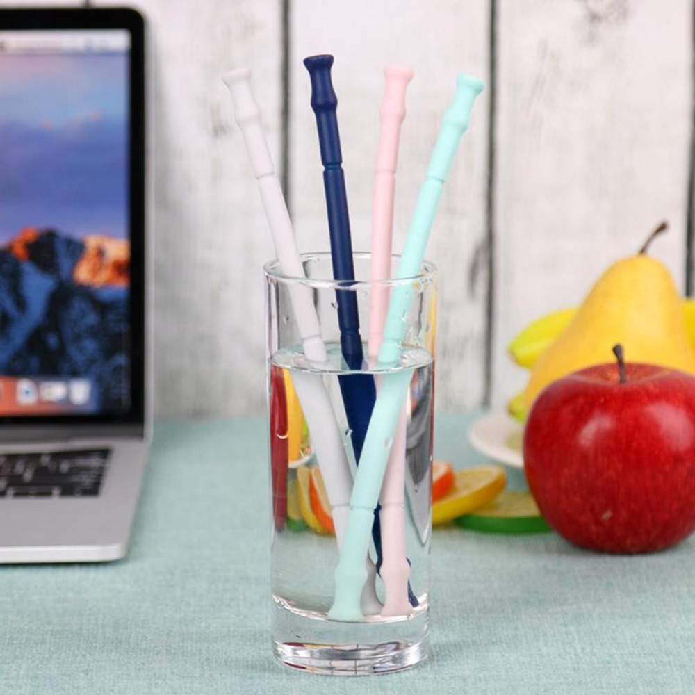 Folding Silicone Drinking Straws With Cleaning Brush For Party Use Children 39 s Gifts Silica Gel Colorful Foldable Drinking Straw in Disposable Party Tableware from Home amp Garden