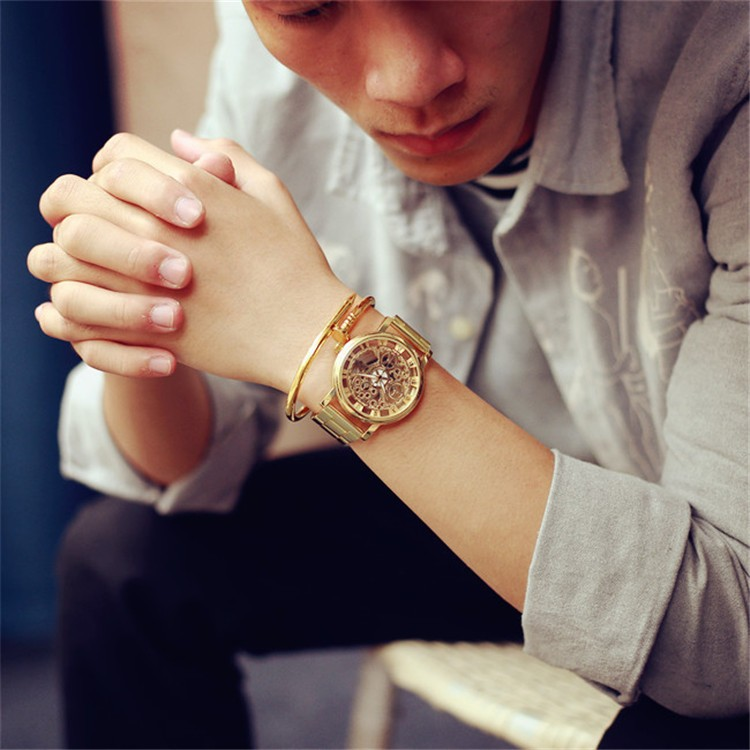 New product  luxury Stainless steel men Business  gold watches Sports men's Watches Reloj hombre Quartz Watch Casual for Men new relogio masculino gold top luxury brand business casual quartz watch men stainless steel military watches reloj hombre hot