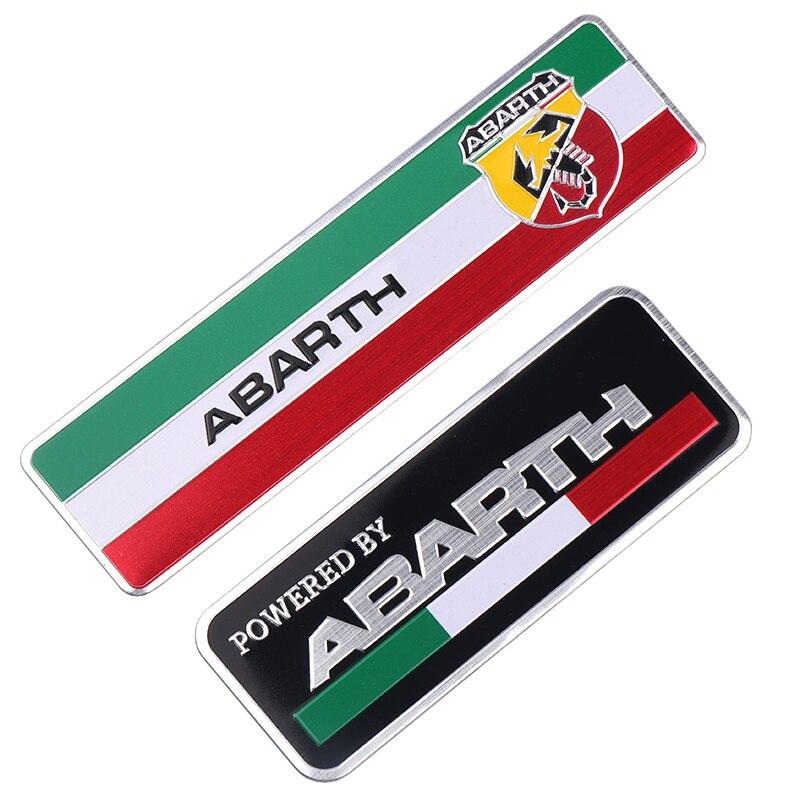 Car Aluminum Alloy Badge Sticker Emblem Decal Car Stickers For FIAT Abarth 500 Punto Stilo 124 125 695 OT2000 Car Styling