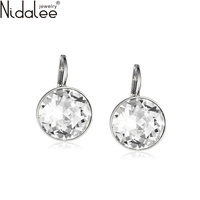 Nidalee 2016 White Bella Crystal Earrings For Women Real Crystal From Swarovski Fashion Stud Earrings Party