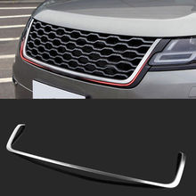 Steel Front Center Grille Grill Cover Trim 1pcs For Range Rover Velar 2017-2018 free shipping front center grill grid grille cover trim stainless steel 304 for 2009 2012 for kia sorento