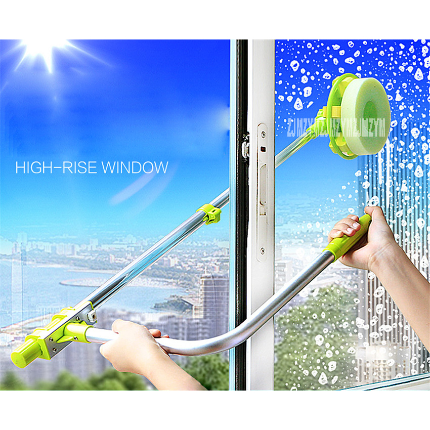 XBL-BLC001 Telescopic High-rise Window Cleaning Sponge Glass Cleaner Brush To Brush Glass Brush Powder Clean Hobot Windows ABS free ship telescopic high rise window cleaning glass cleaner brush for washing windows dust brush clean windows hobot 168 188