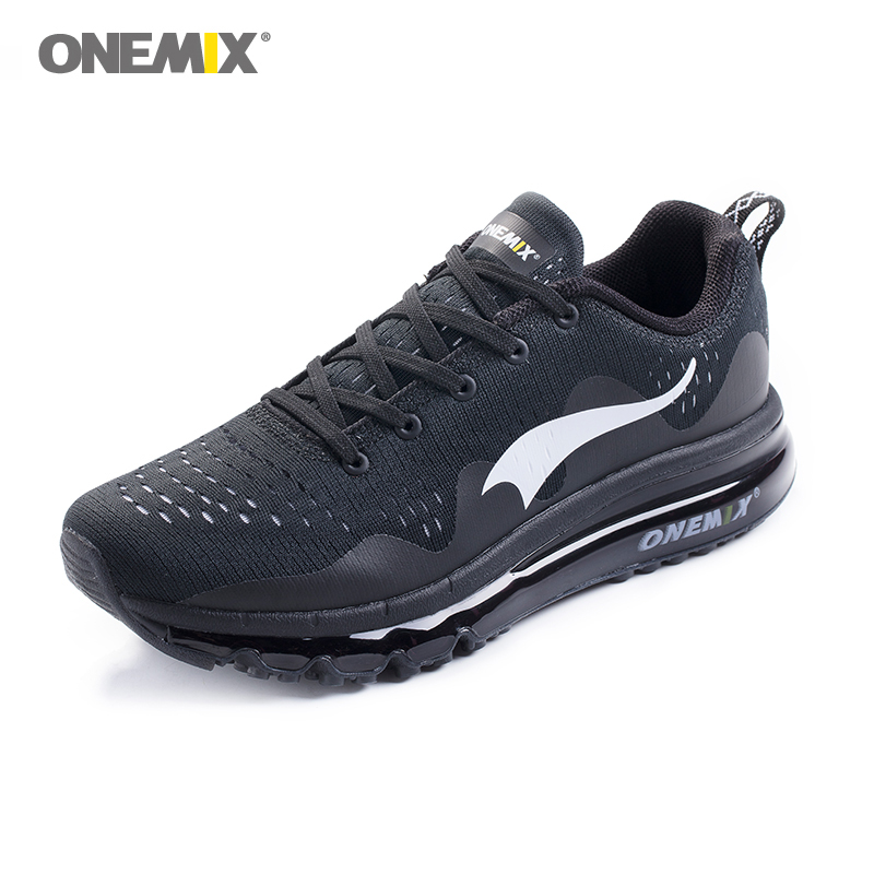Onemix summer running shoes for men sports sneakers damping cushion breathable knit mesh vamp outdoor walking shoes size 39-46 summer style somix ultralight damping running shoes for men free run sneakers 2017 slip on breathable blade soles sport shoes