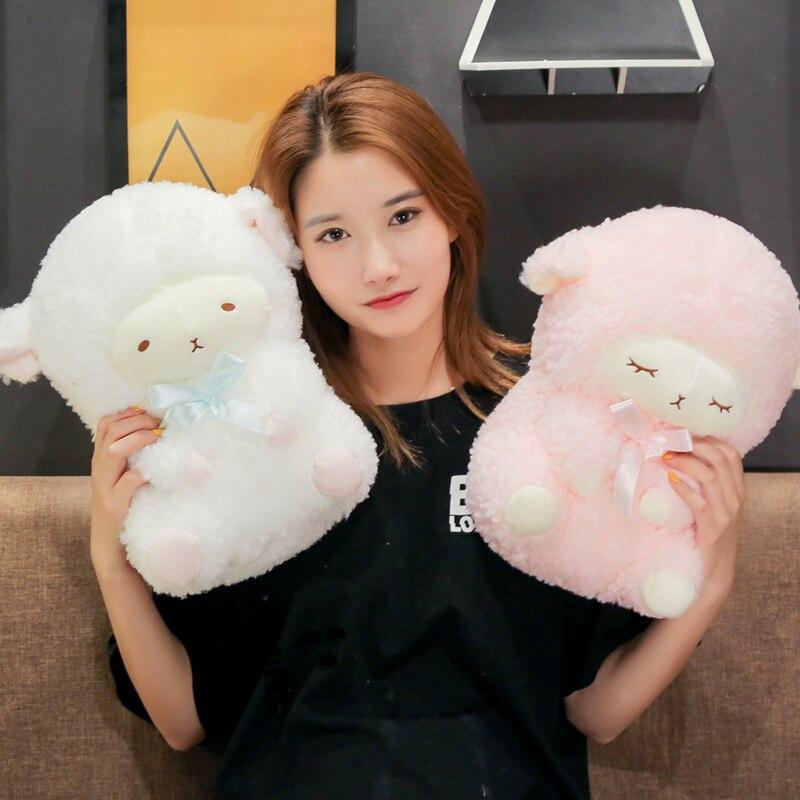 30cm/40cm Kawaii Sheep Plush Toys Simulation Stuffed Animal Soft Doll Cartoon Plush Sleep Sheep Toys For Children Baby Kids Gift