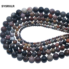 Wholesale Natural Petrified Wood Stone Round Beads For Jewelry Making Charm DIY Bracelet Necklace Material 4 6 8 10 12 MM Strand