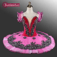 1311c711f5 Black Professional Ballet Tutu Rose Red Classical Ballet Tutu Swan Lake  Blue Stage Costumes Adult Green