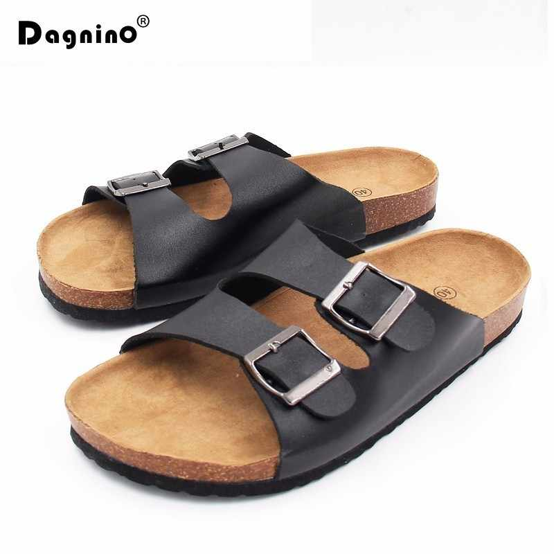 DAGNINO Flip Flops Unisex 2018 Summer Soft Cork Slides Sandals Slippers Women Lovers Casual Beach Shoes Sandalias Zapatos Mujer