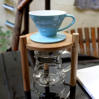 3 pcs set coffee maker Single hole V60 brewer +glass server +bamboo stand for gift set  Barista hand dripper coffee set