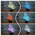 Creative balloon dog 3D Illusion Night Lights Colorful Acrylic Table Lamp For Decoration Lightings Valentine's Day Birthday Gift