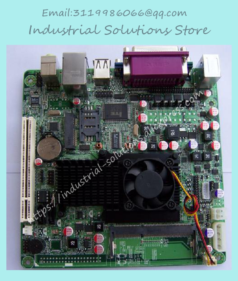 Mini-itx Atom D525 Low Power Motherboard 3G Card 6 Serial 12v Industrial Motherboard 100% tested perfect quality m945m2 945gm 479 motherboard 4com serial board cm1 2 g mini itx industrial motherboard 100