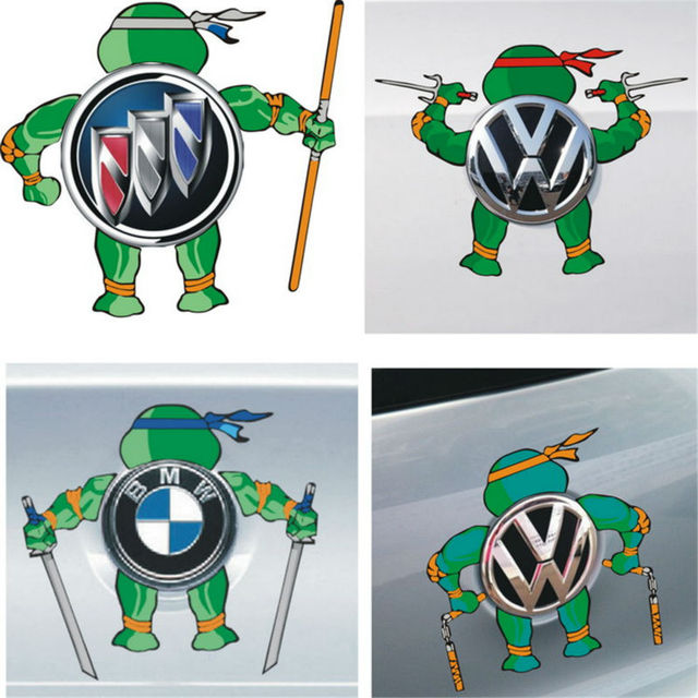 Most cool teenage mutant ninja turtles car sticker car tail logo decoration diy vinyl decal for