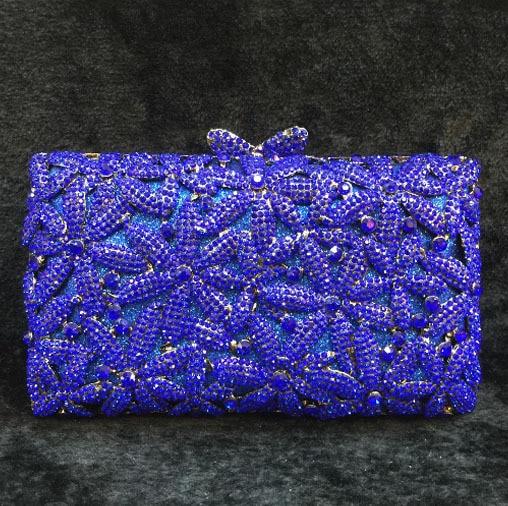 Gold Red Sivler Royal Blue colorful Rhinestones Evening Bag Women Clutch Bag Handbag Bridal Wedding Party crossbody Bag gifts