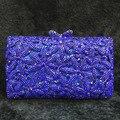 Sivler ouro Vermelho Azul Royal colorido Strass Saco de Noite Das Mulheres Saco de Embreagem Bolsa de Noiva Partido crossbody Saco de presentes