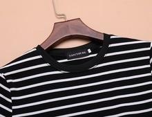 Black And White Striped Slim Dress