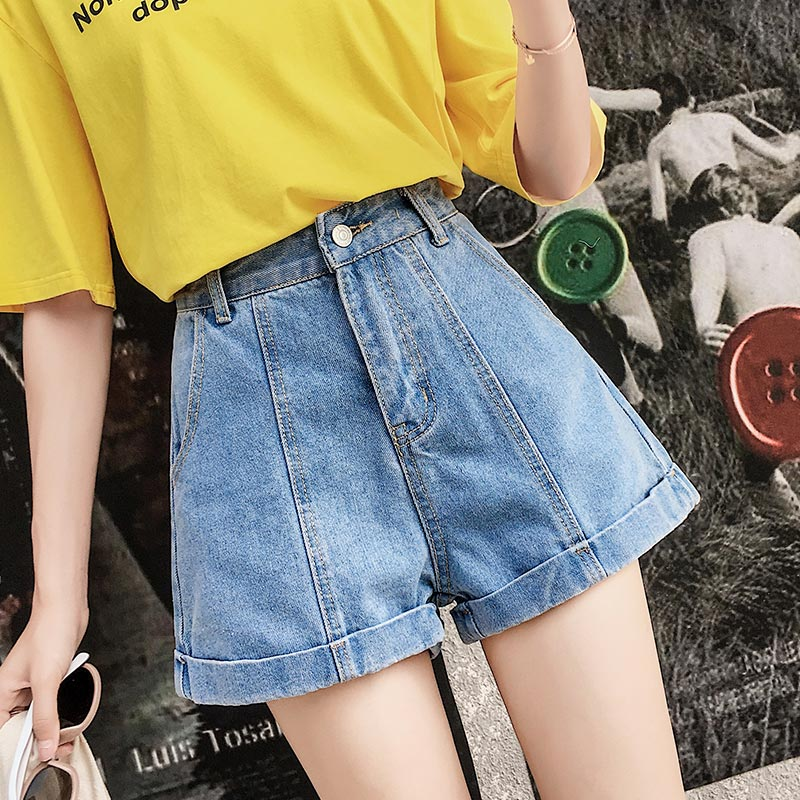 High Waist Denim   Shorts   Female   Short   Jeans for Women 2018 Summer Ladies Hot   Shorts   solid sexy denim   shorts