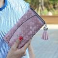 Fashion Knitting Women purse tassel women wallet long clasp female money bag brand lady wallet clutch  new Carteira Feminino
