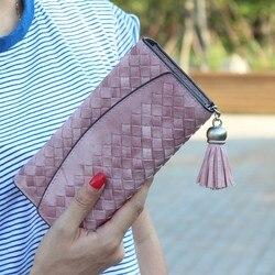 Fashion knitting women purse tassel women wallet long clasp female money bag brand lady wallet clutch.jpg 250x250