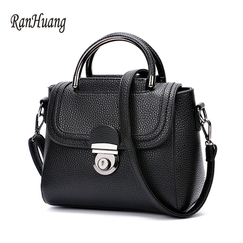 RanHuang Women Small Shoulder Bags PU Leather Handbags Candy Color Ladies Casual Messenger Bags Briefcase bolsa feminina A339