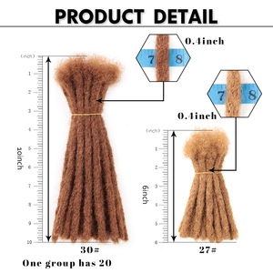 Image 4 - 10 אינץ סרוגה שיער בעבודת יד ראסטות סינטטי שיער Locs רגאיי סרוג קולעת שיער הארכת עבור שחור נשים/גבר
