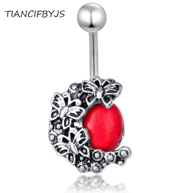 TIANCIFBYJS Phẫu Thuật Thép 14 Gam Navel Belly Nhẫn Body Piercing Trang Sức Chuông Nút Bar Pircing Vành Earring 20 cái cho phụ nữ