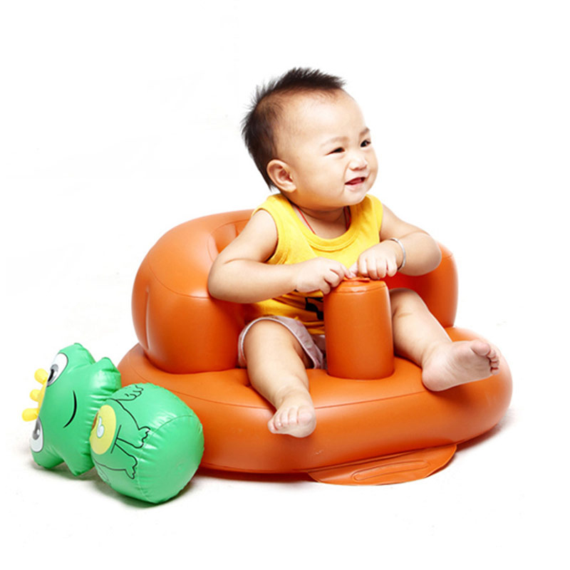 Baby Inflatable Feeding Chair Seat Booster Baby Comfortable Portable ...