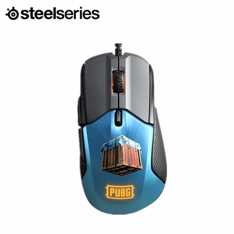 Steelseries のライバル 310 ゲームマウス 12,000 CPI TrueMove3 光学センサー--トリガーボタンの RGB 照明