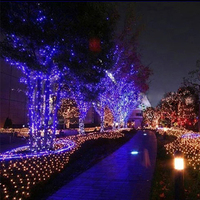 22M 200led 12M 100LED Solar Led String Light RGB Single Color Decoration Light For Christmas Garden