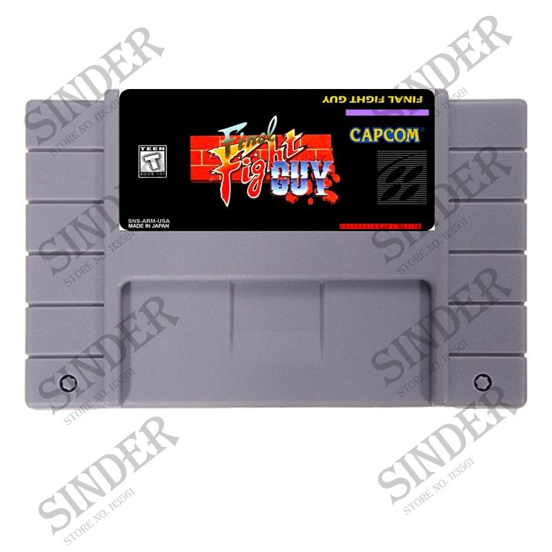 Final Fight Guy English Version 16 bit Big Gray Game CardFinal Fight Guy English Version 16 bit Big Gray Game Card