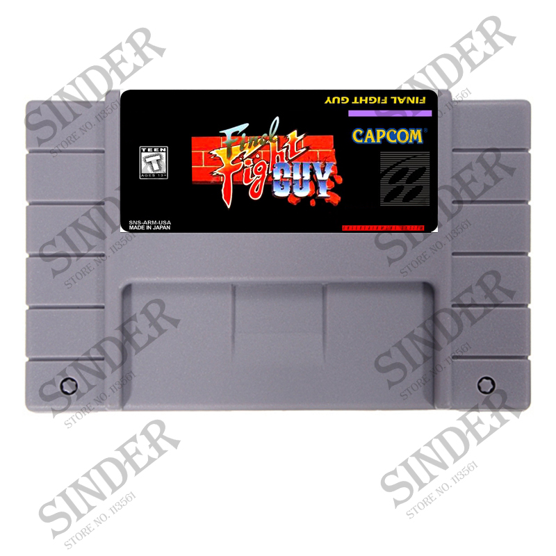 Final Fight Guy English Version 16 bit Big Gray Game Card