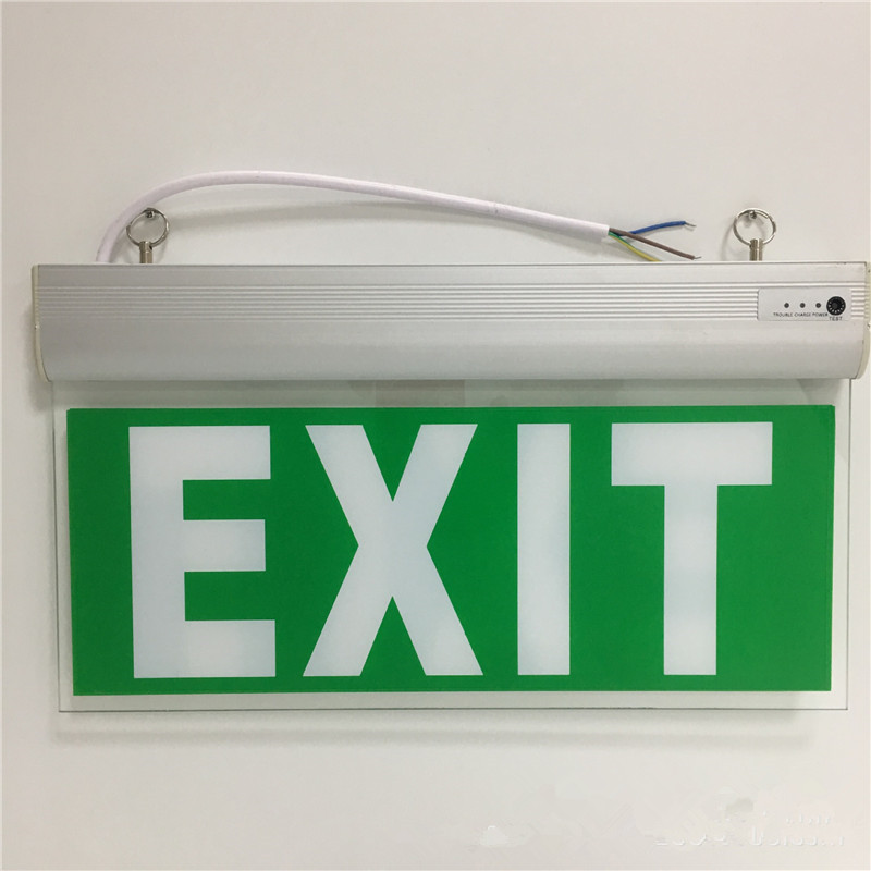 CLAITE Rechargeable LED Exit Sign Emergency Light 3W Hanging Exit Indicator Light With Ni-Cd1.2V Battery AC110 AC220V exit wound