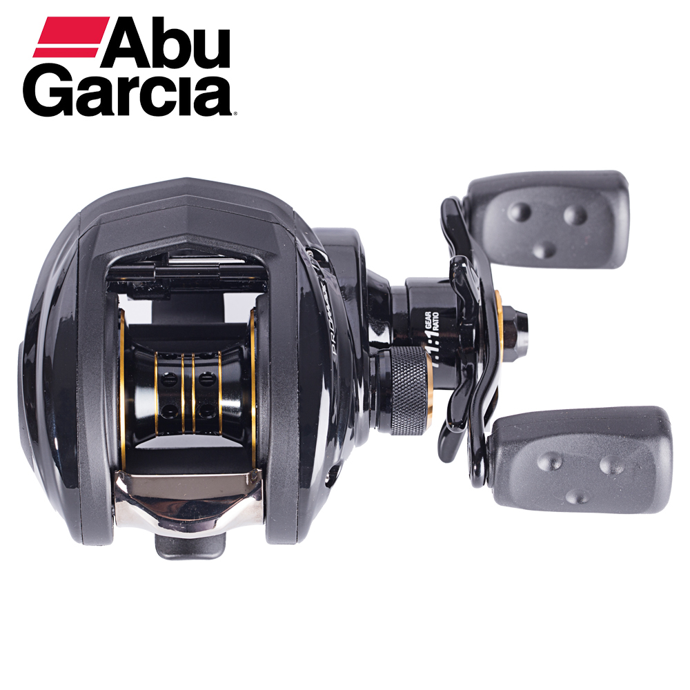Abu Garcia PMAX3 Baitcasting Fishing Reel Drag Max 8kg 7+1Ball Bearing 7.1:1 Low Profile abu garcia pmax3 l left hand bait casting reel drum trolling fishing reel 7 1 bb 7 1 1 207g drag 8kg line 12lb 132m tackle tools