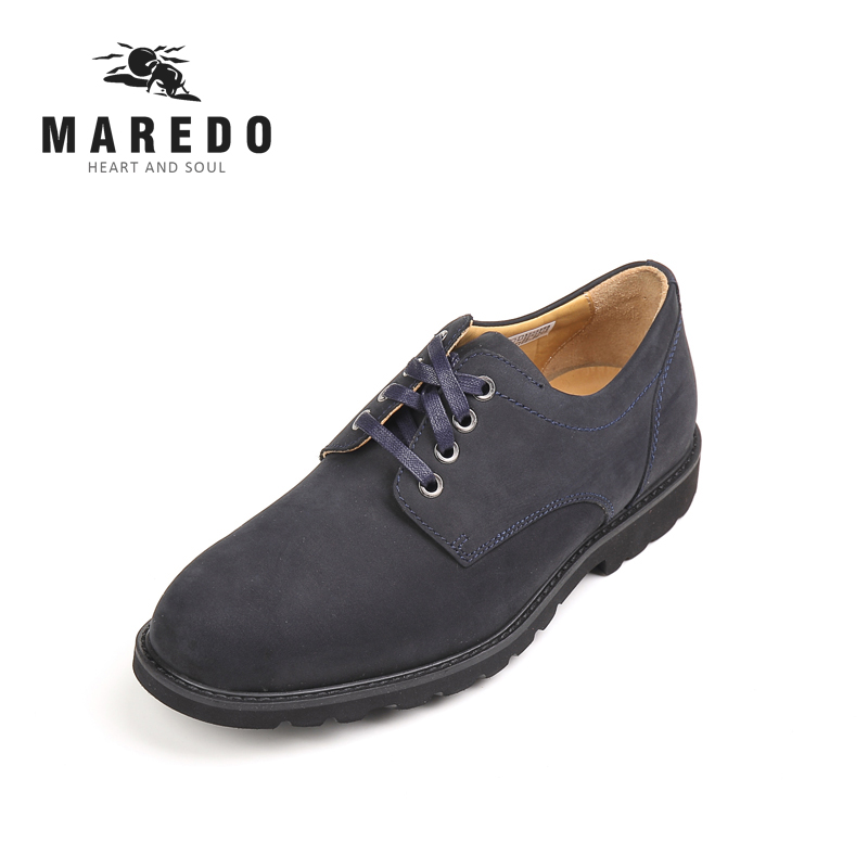 MAREDO men shoes official shoes leather casual breathable shoes social dress shoes