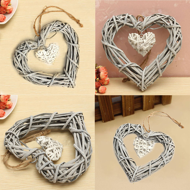 New Arrival Chic Wicker Heart Wreath Home Wall Hanging Wickers DIY ...