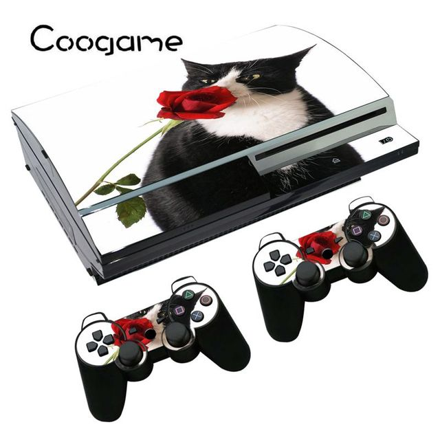 cat vinyl skins for sony ps3 fat console for playstation 3