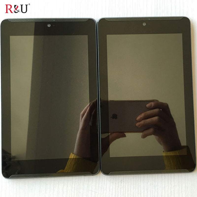 imágenes para R & T Utiliza piezas lcd de pantalla y pantalla táctil digitalizador asamblea con marco Para Asus Fonepad 7 ME372CG ME372 K00E LTE