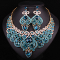 New Bridal Jewelry Sets Wedding Necklace Earring For Brides Party Accessories Gold Plated Crystal Indian Decoration Women Gift