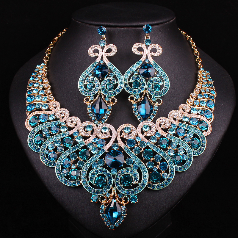 Wedding Jewellery Gift Sets : New Bridal Jewelry Sets Wedding Necklace Earring For Brides Party ...