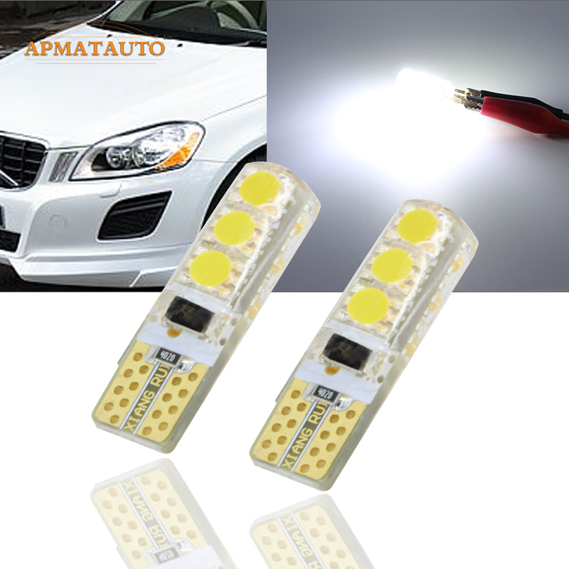 2 x T10 W5W T16 LED Parking Lights Sidelight  Marker Lamp Bulb Canbus For Volvo XC60,XC90, V50 V60,V70 ,C30, C70, S40, S60, S80,