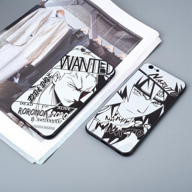 Naruto Sasuke Kakashi Pattern Phone Case For iPhone