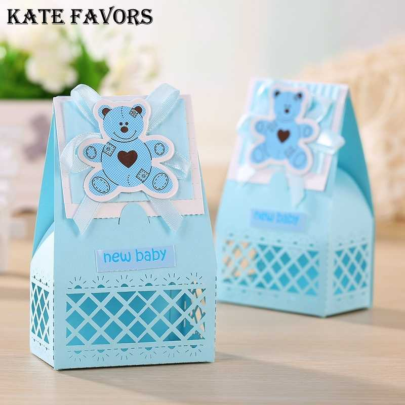 Detail Feedback Questions About Pink And Blue Cute Baby Favors Boxes