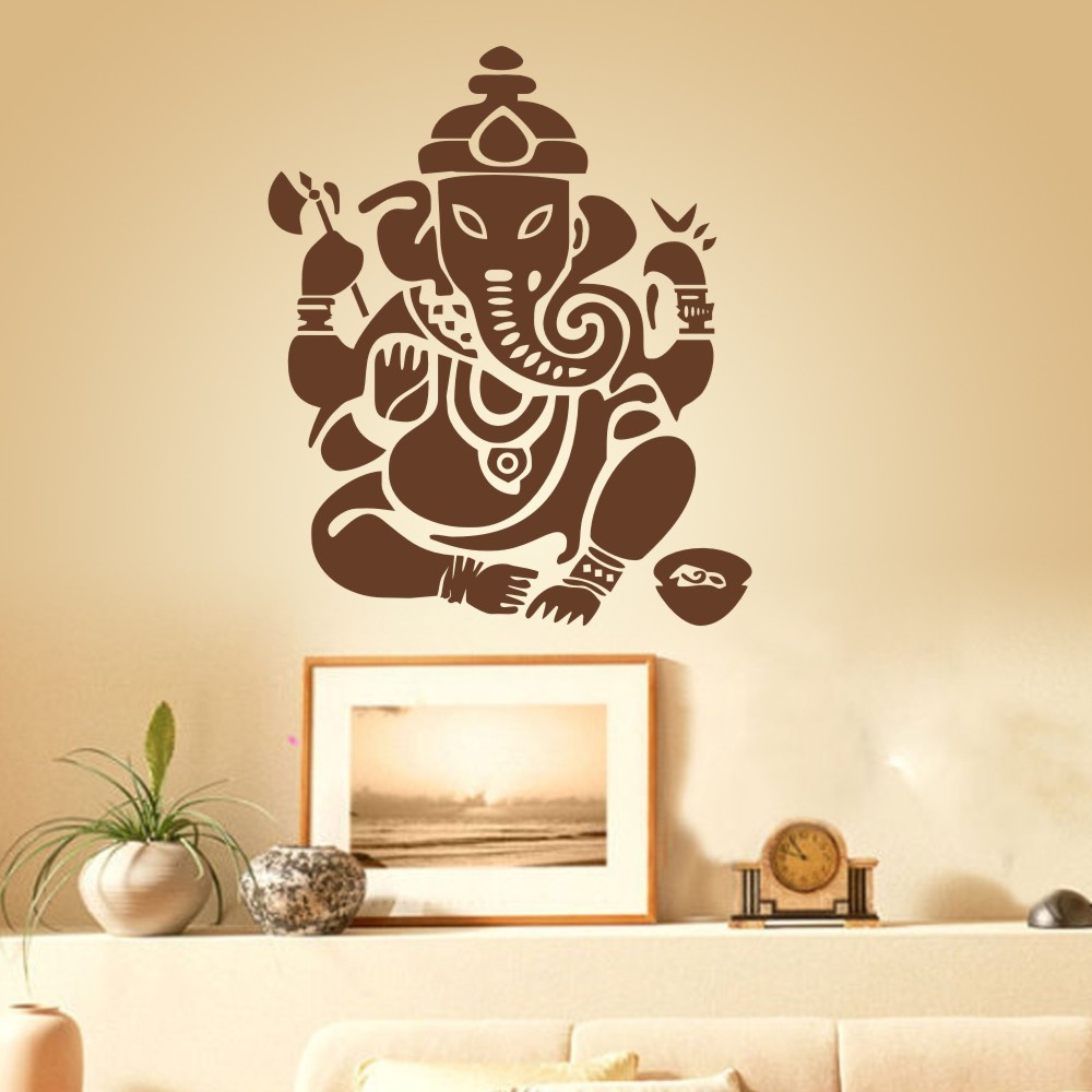 Wall Decal Art Decor Sticker Ganesh Buddhism India Indian namaste ...