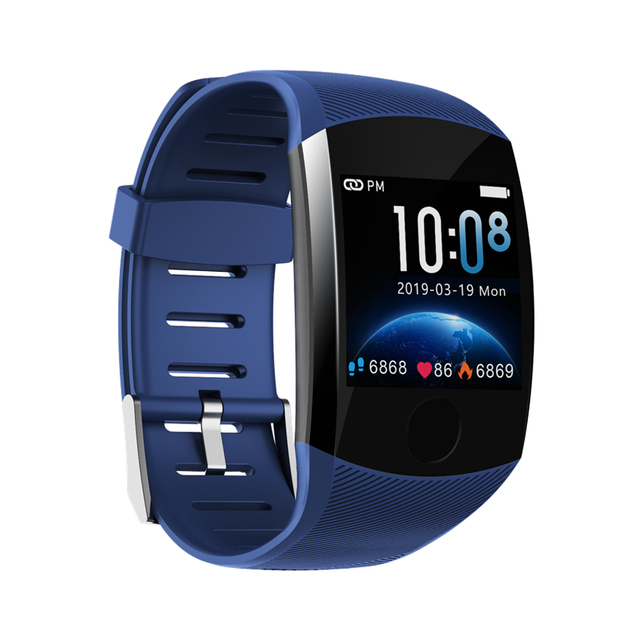 Q11 Smart Watch Waterproof Big Touch Screen OLED Message Heart Rate Time Smart band Fitness Activity Tracker Bracelet Wristband 5