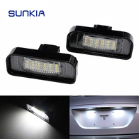 2Pcs Set SUNKIA Canbus LED License Plate Lamp 18SMD White Error Free For Benz W220 99